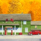 Vintage Service Stations and Cars
