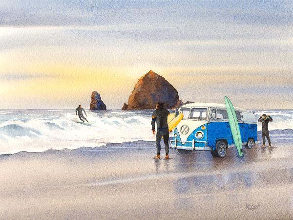 Cannon Beach Morning Surf